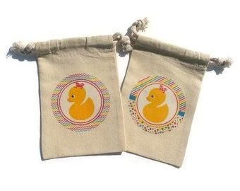 Religious bible verses set of 6 muslin 4x6 just because rubber duck yellow set of 10 muslin 4x6 gift bags baby shower favors girl negle Image collections