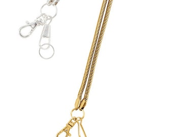 Gold or Silver Loupe Cord Necklace 19 inches long with Goldtone Lobster Claw Clasp, for the Jewelry Trade