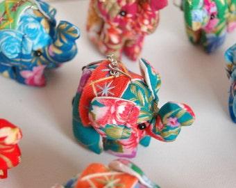 I Love Elephants Colorful Handmade Elephant Keychains