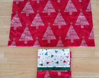 Pillowcase Pairs - Christmas Trees