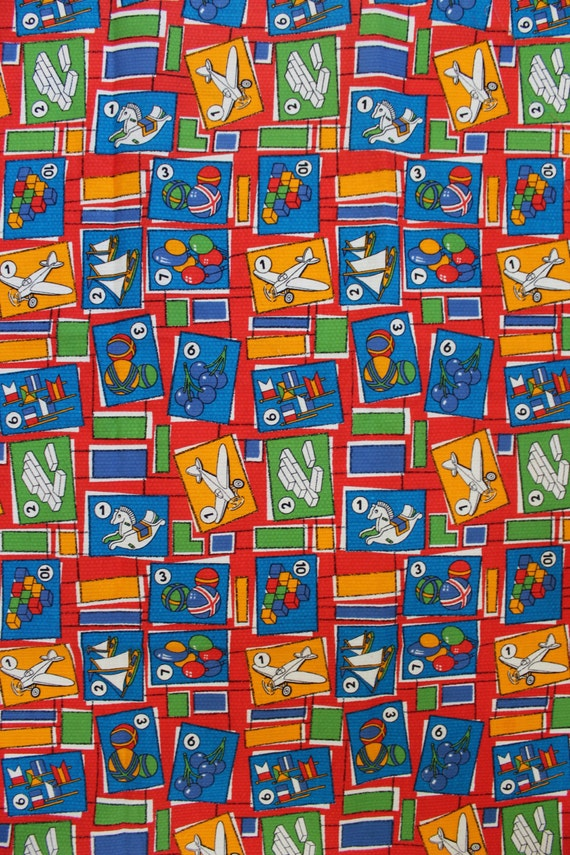 Soviet kids cotton fabric vintage soviet fabric russian for Fabric for kids clothes