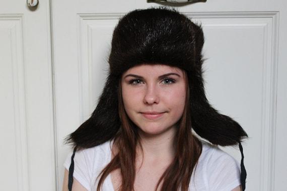 Nutria Fur Hats Soviet Ushanka Nutria Fur Hat