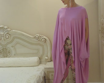 Long tunic Pink tunik Oversize tunic dress TOP Summer tunic extravagant top /  All sizes available Us Uk Eu