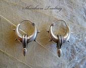 Tribal Silver Hoop Earrings Sterling Silver Earrings Gypsy Hoop Earrings Tribal Belly Dance Jewelry Boho Hoop Earrings Bohemian Jewelry