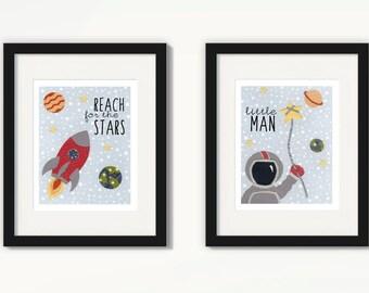 Space Nursery, Space Nursery Decor, Reach for the Stars, Space Theme Nursery, Outer Space Nursery, Rocket Nursery, Astronaut Nursery