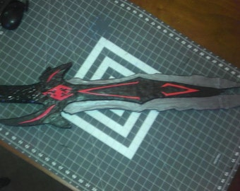 Skyrim Inspired Two-handed  Daedric Sword was 250