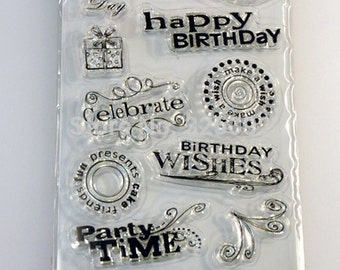 Happy birthday-clear stamps - stamp transparent silicone