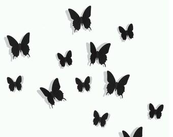 Butterflies 3D stick-on