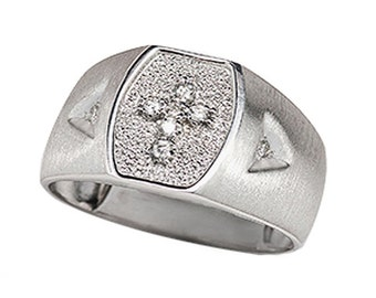 Sterling Silver Men's Cross Ring (R722)
