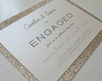 Shimmering Modern Engagement Announcement