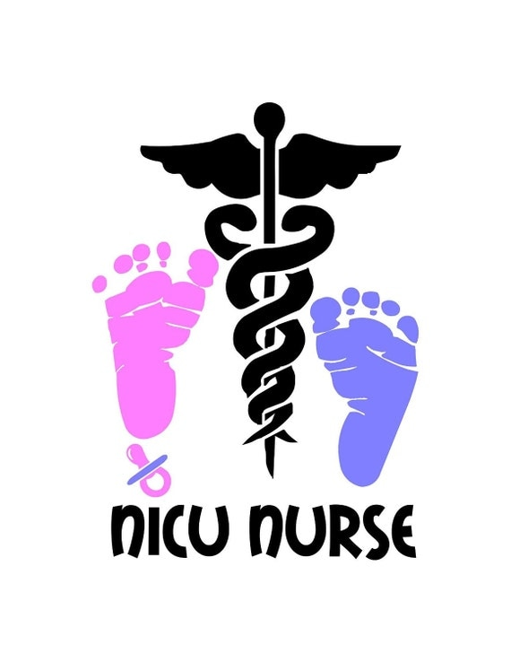 nicu nursing decal   medical symbol and text is white Pediatrician Doctor pediatrician doctor clipart