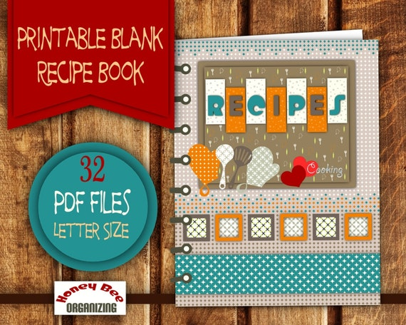 Diy printable recipe book recipe binder printable set for Homemade cookbooks template