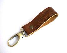 Moto Guzzi Leather Key chain Belt Loop Handcrafted by Celyfos®