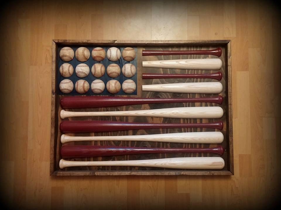 Diy Baseball Bat American Flag