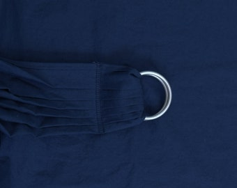 SALE Linen Ring Sling Baby Carrier - Midnight Blue