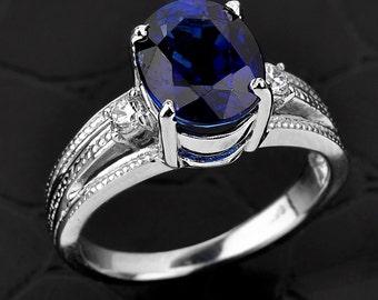 Blue Sapphire ring, gold sapphire ring,diamond blue sapphire ring, sapphire engagement ring, cz blue sapphire ring,September birthstone ring