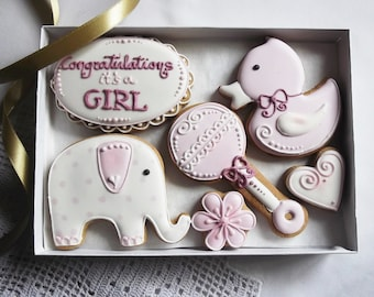 Congratulations Its a Girl! Cookie Gift, Can be personalised