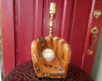 Baseball Mitt Vintage Lamp