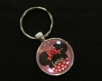 Pink Disney Minnie Keychain