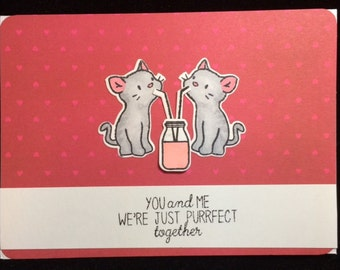 You & Me Cat Greeting Card