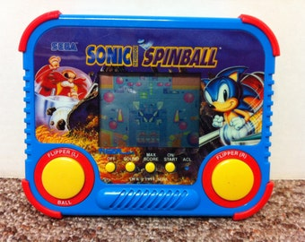 Sega Sonic Spinball 1994 Handheld Electronic Game and Instructions, Model 72-811 by Tiger Electronics