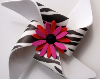 Cane/Walker Accessory - Zebra Strip Pinwheel - Snap on
