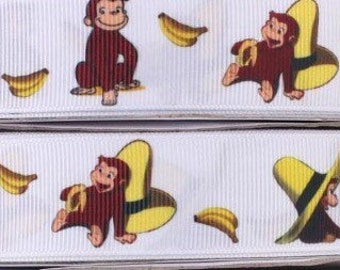 Curious George Inspired Ribbon
