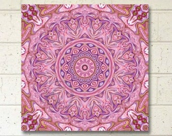 Pink Mandala Art, Printable Wall Art,  7.5 inch New Age Art, Meditation Art, Pink Wall Decor, Meditation Art, Instant Download