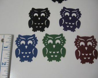 "50-1 3/4"" Owl Die Cuts-Black, Dark Purple,Forest Green, Maroon, Midnight Blue-Halloween Die Cuts-Fall Die Cuts-Scrapbook Supplies"