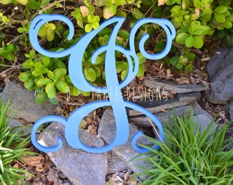 12 Inch Wooden Monogram Painted, Wooden Letters, Monogram, Home Decor, Nursery Letters, & More