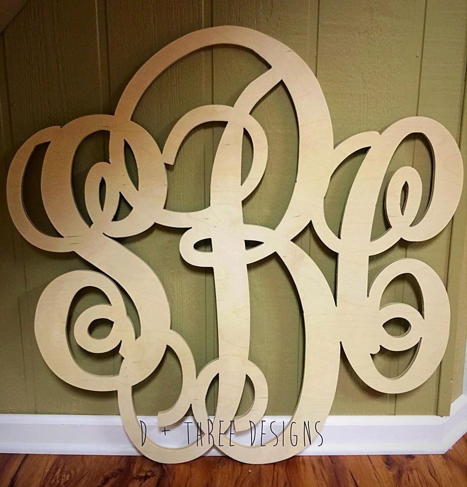 36 inch wooden monogram letters home decor weddings for 36 inch wooden letters