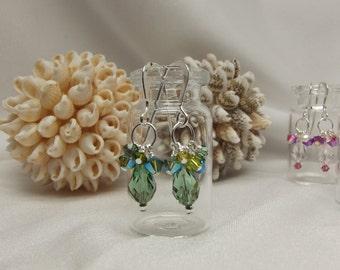 Swarovski Crystal and Sterling Earrings