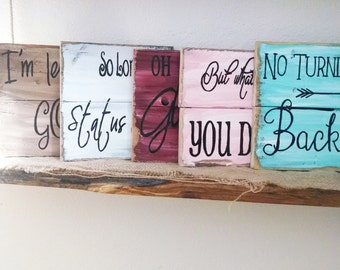 Rustic motivational sign, inspirational pallet signs, rustic home decor, rustic friend gift, power quote sign, photo prop