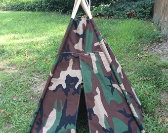 Camouflage Play Tepee