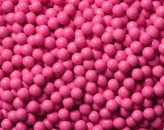 "Hot Pink Sugar Pearls  ""Cake/Cupcake/Cookie Decorations"""