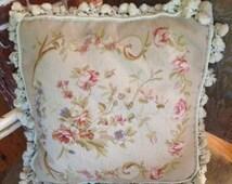 Vintage Aubusson Pillow