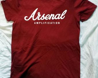 Arsenal Parody of Marshall Logo Shirt - For Guitarist UK Football fans of Arsenal FC Shirt