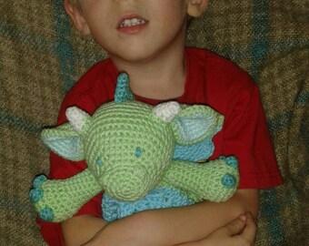 crochet dragon lovey blanket
