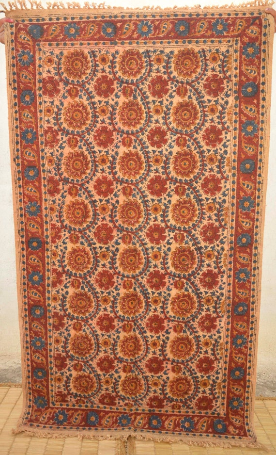 floral area rug 3x5 rug block printed on by