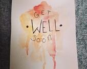 """Postkarte """"Get well soon"""""""