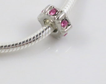 Pugster Pink Rose Swarovski Crystal Spacer
