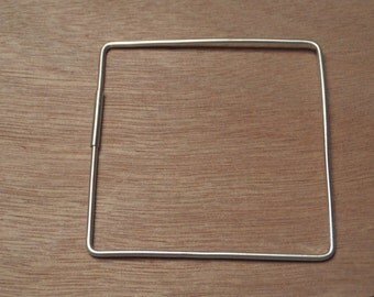 Square Sterling Silver Bracelet/ Bangle