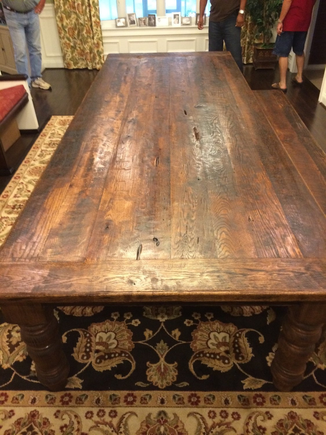 10 foot antique reclaimed oak farm table by for 10 foot farm table