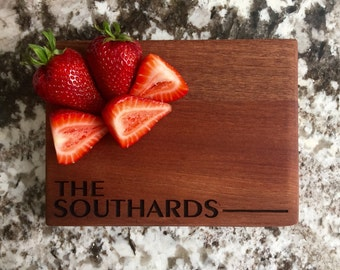 Personalized Cutting Board 6x8 Mahogany - Southard Style