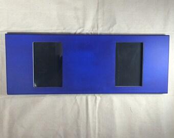Chalkboard picture frame. Blue