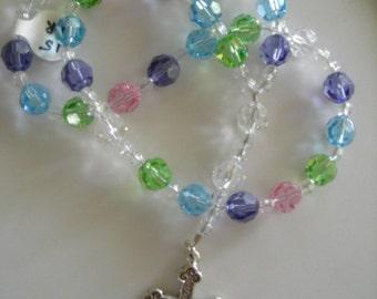 Anglican Rosary: All Swarovski Crystals