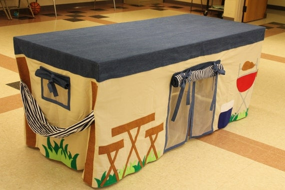 Made To Order Camping Tent Tablecloth Fort Playhouse Custom
