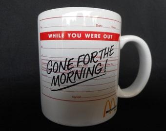Vintage Ceramic McDonalds Coffee / Tea Mug / Cup...Collectible Mug...