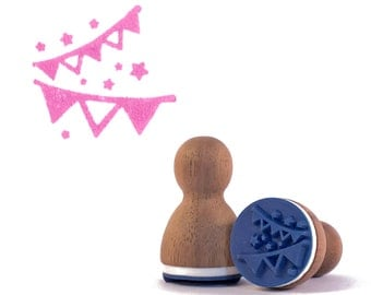 Bunting rubber stamp