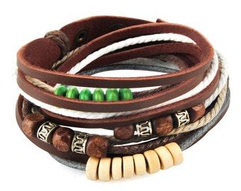 axy wrap bracelet TWIC13-8! Leather Bracelet